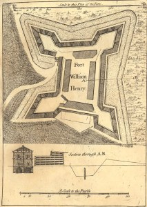 FortWilliamHenry1765Plan