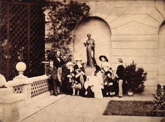 the_royal_family_on_the_terrace_of_osborne_house_by_leonida_caldesi