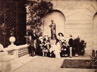 the_royal_family_on_the_terrace_of_osborne_house_by_leonida_caldesi